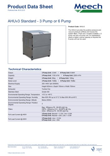 AHUv3 Standard - 3 Pump or 6 Pump