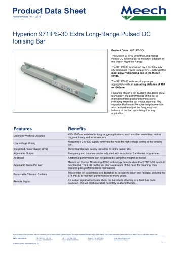 Hyperion 971IPS-30 Extra Long-Range Pulsed DC Ionising Bar