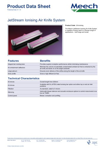 JetStream Ionising Air Knife System