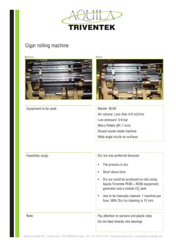 Cigar rolling machine - Case study