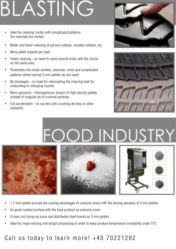 Micro pellets - Dry Ice Production