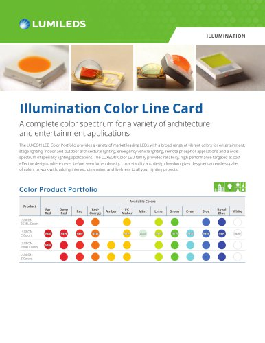 Illumination Color Line Card
