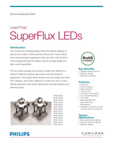 Lead Free SuperFlux LEDs