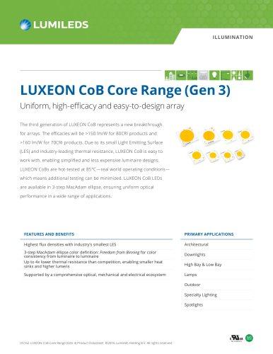 LUXEON CoB Core Range (Gen 3)