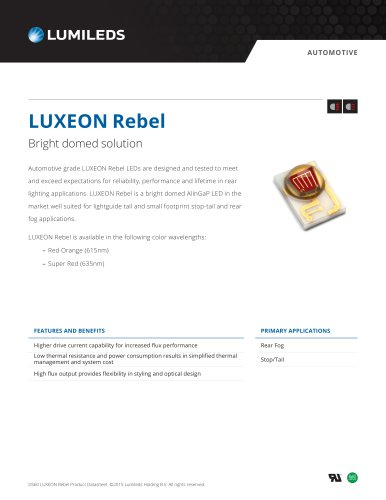 LUXEON Rebel Automotive Super Red and Red Orange