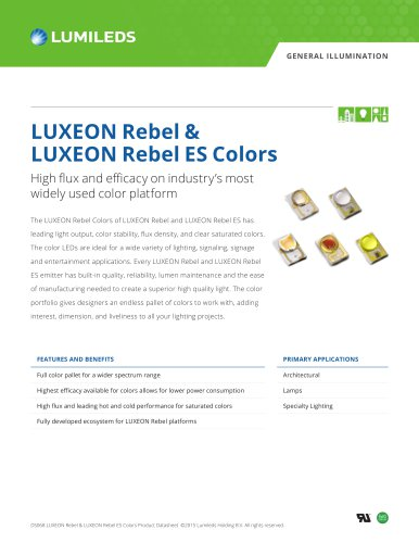 Luxeon Rebel Es Color Portfolio