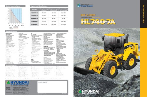 Wheel Loaders  HL740-7A