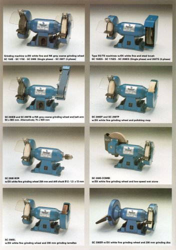 Double ended grinders, workshop and industry
