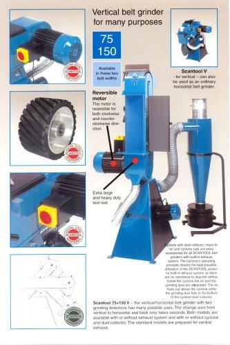 Vetical belt grinder