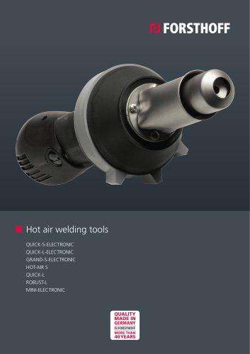 Hot air welding tools
