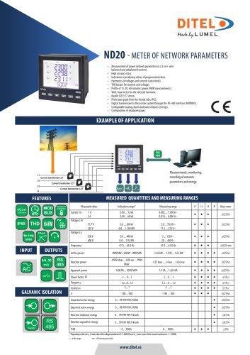 Datasheet ND20