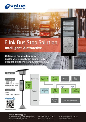 E ink Bus stop solution