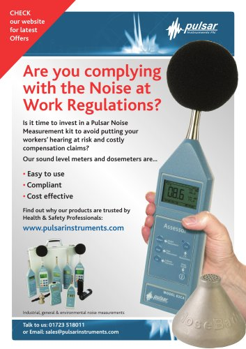 Are you complying with the Noise at Work Regulations?