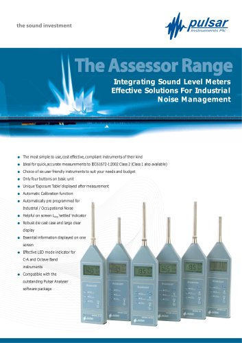Assessor Automatic Sound Level Meter