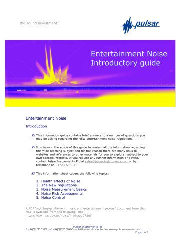 Entertainment Noise