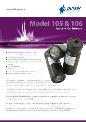 Model 105 & 106: Acoustic Calibrators
