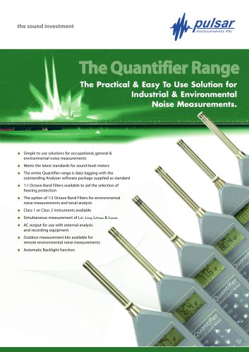 The Quantifier Range of Sound Meters
