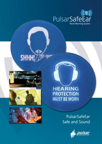 SafeEar Noise-Activated Warning Sign