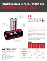 Ultralife CR123A Sell Sheet