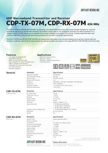 CDP-TX-07M, CDP-RX-07M