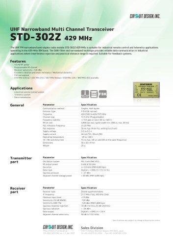 STD-302Z: 429 MHz