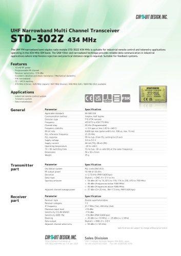 STD-302Z: 434 MHz