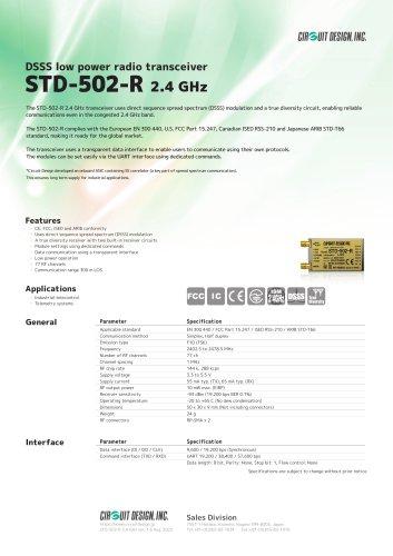 STD-502-R / DSSS low power radio transceiver