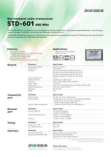 STD-601 400 MHz