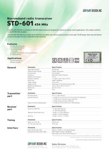 STD-601 434 MHz