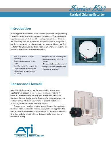 Analytical Technology B20 Residual Chlorine Recorder