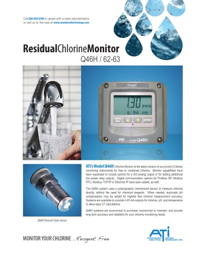 Residual Chlorine Monitor Q46H / 62-63