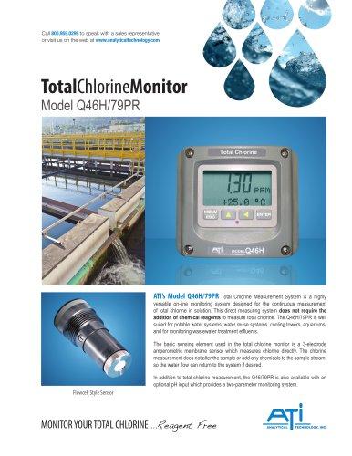 Tota Chlorine Monitor Model Q46H/79PR
