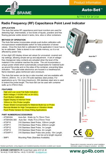 4B - AutoSet RF Capacitance Point Level Probe