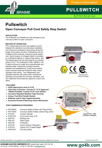 4B Pullswitch - Conveyor Safety Stop Switch