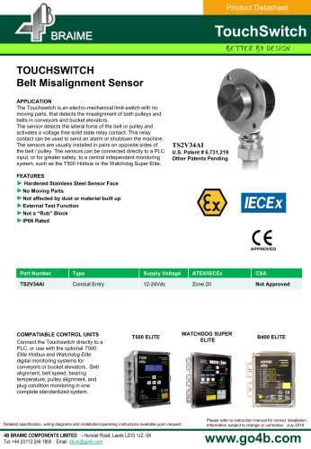 4B Touchswitch - Belt & Pulley Misalignment Sensor