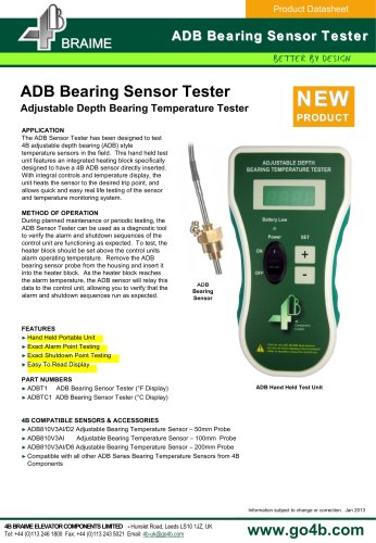 ADB bearing temperature tester