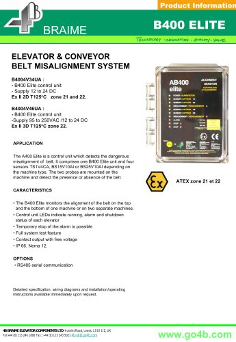B400 - Belt Alignment Monitor for Conveyors
