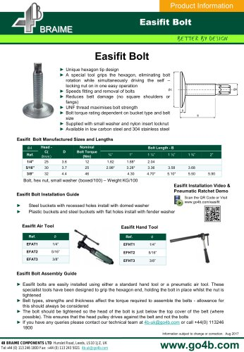 EASIFIT Elevator Bolts