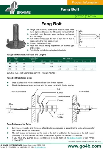FANG Elevator Bolts