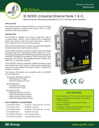 IE-Node - Remote Sensor Monitoring for PLC's & Automation Systems
