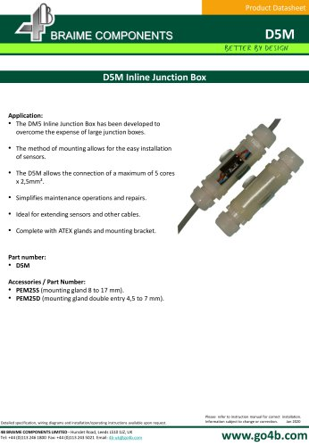 Inline Junction Box for Atex environments