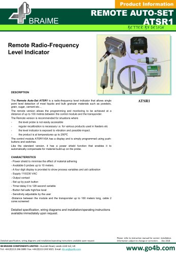 Remote Autoset Radio-Frequency Level Indicator