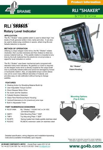 RLI Shaker - Rotary Level Indicator