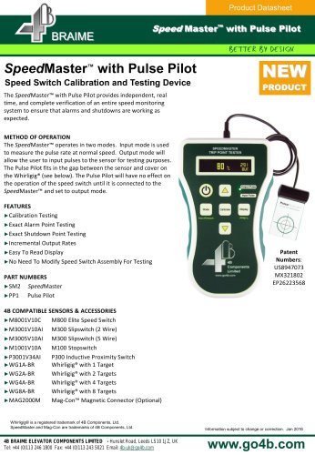 SpeedMaster Speed Switch Calibration Testing Device