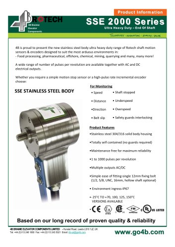 Ultra Heavy-Duty Stainless Steel Shaft Encoder