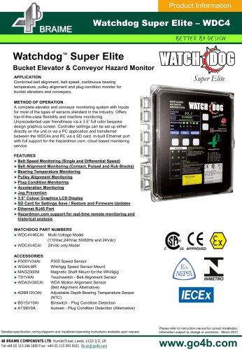 Watchdog Super Elite (WDC4) Bucket Elevator & Conveyor Hazard Monitor