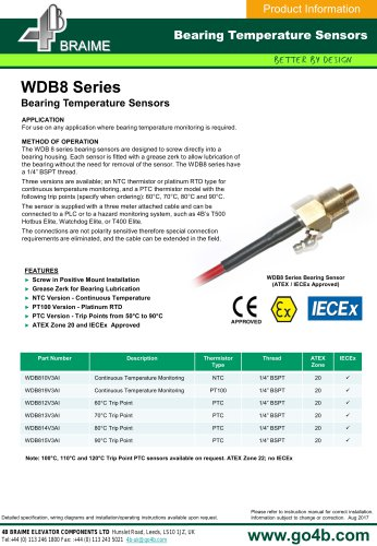 WDB8 Bearing Temperature Sensors