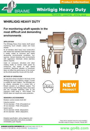 Whirligig Heavy Duty - Universal Shaft Sensor Mount for Rotation Monitoring