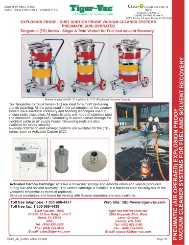 SS-15 to 55 TE - Fuel, Solvent, Acid recovery, Vaccum