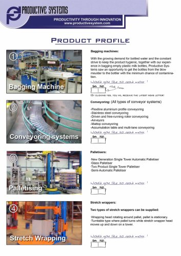Productive Systems - Product overview